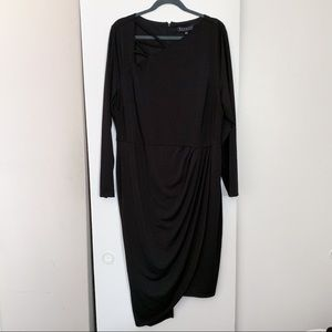 Eloquii Black Dress with Strappy detail